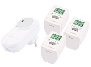 3 Stück Heizkörperthermostat Smart Home System mit Gateway und App Olympia