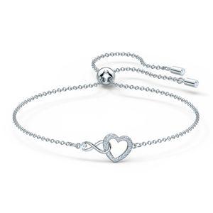 Swarovski Armband 5524421/5604200 Infinity Heart, weiss, rhodiniert