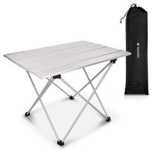 Navaris Campingtisch Camping Klapptisch ultraleicht - 55,7x40,5x38,5cm Alu Tisch Balkon klappbar - Beistelltisch Balkontisch klein