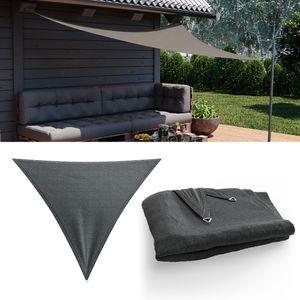 OSKAR Sonnensegel Dreieck 3x3x3 Anthrazit Sonnenschutz Windschutz UV-Schutz HDPE