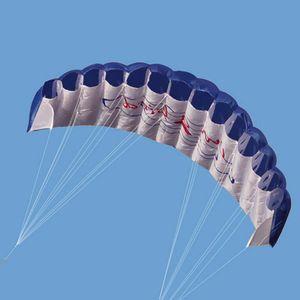 Drachen Flugdrachen Fallschirm Flugspielzeug Lenkdrachen Stunt Kinder Erwachsene Farbe : Blau
