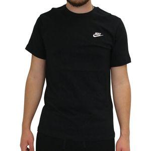 Nike Sportswear Club T-Shirt Herren Schwarz (AR4997 013) Größe: M