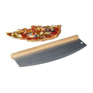 relaxdays Pizza Wiegemesser aus Edelstahl