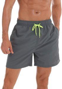Badehose Herren Badeshorts Herren Shorts Vielfarbig Beachshorts für Männer  Farben :Gray Größe Shorts:L