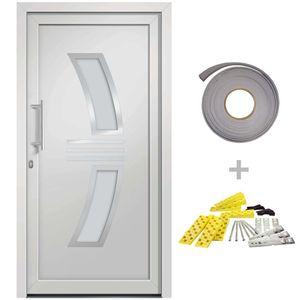 Hommie® Haustür Türen Weiß 108x208 cm