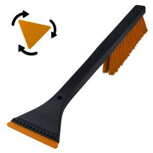 1 x Kombi Eiskratzer Schwarz-Orange MURSKA® Eisschaber 365mm Dreieck-Klinge Acryl wechselbar mit Schneebesen Original aus Finnland