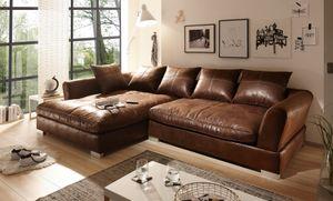 BIG Sofa - L Form - Vintage Braun - Links - Modell MAXIMUS