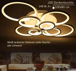 6067-8 100x80x17cm LED 148W  LED Deckenleuchte mit Fernbedienung Lichtfarbe/helligkeit einstellbar