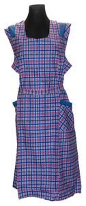 RV- Kittel Schürze Hauskleid Kittelschürze bunt, Farbe:Dessin 1, Größe:56