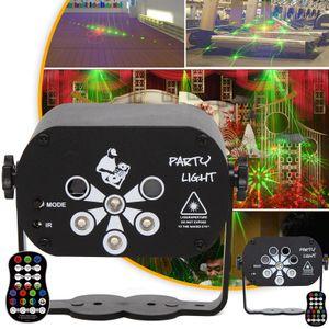 Projektor lampe 120 Muster 8 Lens LED Bühnenbeleuchtung RGB Laser Disco Party Licht Projektor(USB betrieben)