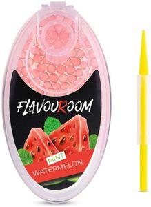 Flavouroom - Premium Mint Watermelon Kapseln 100er Set | DIY Minze Wassermelone Filter für unvergesslichen Flavour Geschmack | inkl. Box zur Aufbewahrung der aromatischen Click Hülsen Kugeln