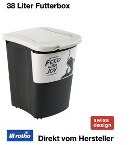 Archie Tierfutterbehälter 38 l, Farbe:Cappuccino