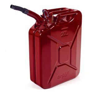 Oxid7® Metall Benzinkanister, pulverbeschichtet, rot 20 Liter + Ausgießer