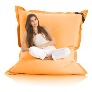 Original LAZY BAG Indoor & Outdoor Sitzsack XXL 400L Riesensitzsack Sitzkissen Sessel für Kinder & Erwachsene 180x140cm - Orange
