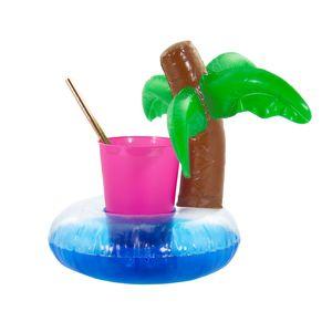 Oblique Unique 5x Schwimmende Palme Getränkehalter Becherhalter aufblasbar Pool Badespielzeug
