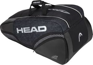 HEAD Djokovic 9R Supercombi Tennistasche Schwarz