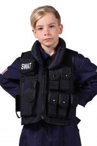 T2963-0100 schwarz Kinder SWAT Weste Polizei Kostüm