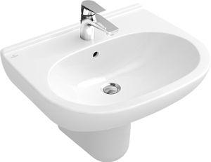 Villeroy & Boch Waschtisch O.NOVO 600 x 490 mm mit Überlauf weiß