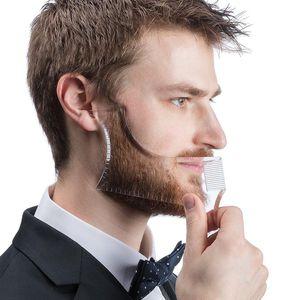 Herren Bart Shaping Lineal Gesichtsbehaarung Styling Trimmen Vorlage Kamm Klar Farbe klar