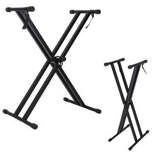 X-Form Doppelstrebiger Keyboardständer Keyboard Stativ E-Piano Stand Piano Ständer einstellbar