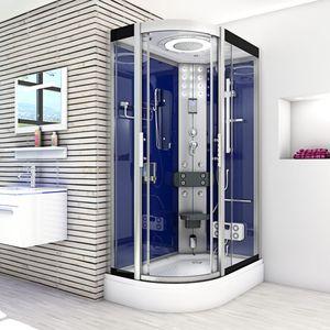 AcquaVapore DTP8060 DBL Dampfdusche Dusche Duschkabine 120x80L / 80x120R JA mit Dampfgenerator +120.-€ Einhebelmischer +0.-€ 120x80cm links / transparent JA mit 2K Scheiben Versiegelung
