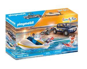 PLAYMOBIL 70534 Pick-Up und Motorboot NEU