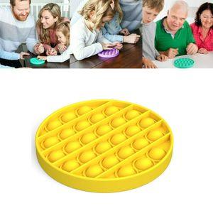 Push Bubble Spielzeug  Stressabbau Lernspielzeuge Multifunktionsspielzeug Kinder Familienspiele Farbe : Circle-Gelb