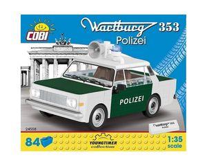Cobi Youngtimer bausatz Polizeiauto weiß/grün 84teilig