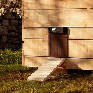 35*24 cm automatische Hühnerstalltür, batteriebetriebenes elektrisches Hühnerstalltür-Kit, Hühnerklappe mit Lichtsensor, für sichere Hühneraufzucht