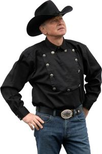 Country Westernhemd  John Wayne von Running Bear S- 5XL - Cowboyhemd schwarz 5XL - 62/64