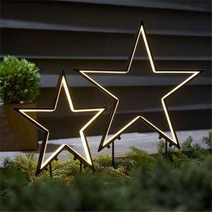 LED-Gartenstecker-Set 2-tlg. Sterne Outdoorsilhouetten zum Stecken Gartendeko