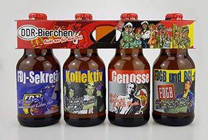 DDR Bier im witzigen Ostalgie 4er Träger Teil 2 (8,33 EUR / l)