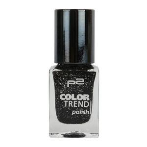 P2 Nägel Nagellack Nagellack Color Trend Nail Polish 833864, Farbe: 070 black glitter, 10 ml