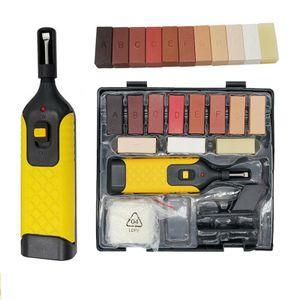 Fußboden Reparatur Set Holz Reparatur Set 11 unterschiedliche Farbtöne Inkl. Wachsschmelzer Hobel Schleifschwamm Spatel ReparaturKit