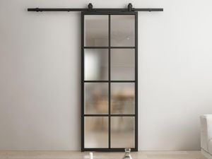 Atelier Schiebetür WILDEN - H205 cm x B93 cm - Aluminium & Glas