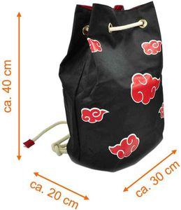Hochwertige Akatsuki Tasche | Seesack mit roten Wolken
