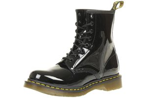 Dr. Martens 1460 W Patent Lambers Damen Boots Stiefel Schuhe Schwarz, Größe:39
