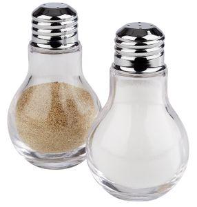 APS Salz und Pfefferstreuer  /// Ø 6 cm, H: 10 cm  /// Behälter aus Glas  /// Deckel aus 18/8 Edelstahl /// 40507