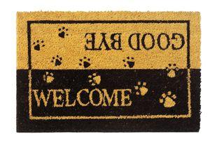 PANA® Fußmatte Kokos - 40 x 60 cm - versch. Designs, Design:Welcome & Goodbye