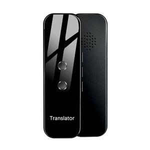 Reise 2 Wege Echtzeit Sprachübersetzer 70+ Sprachen Übersetzungsgerät Schwarz Spiegelglas Übersetzer 115 x 35 x 9 mm
