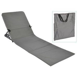 HI Faltbare Strandmatte PVC Grau