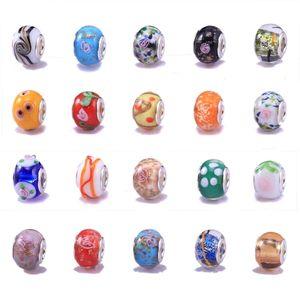 20 gemischte Murano Lampwork Glasperlen - passt Pandor Stil Bettelarmbänder (Kern Größe 5mm)