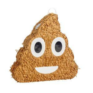 Fax Potato Poop Emoji Pinata | Party-Zubehör Dekoration | 45 x 10 x 45 cm - Braun