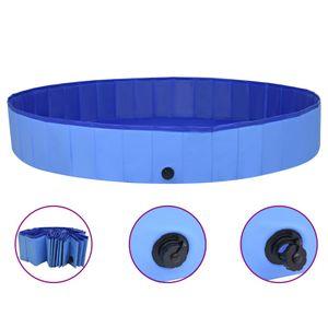 Hundepool Faltbar Blau 200x30 cm PVC