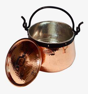'CopperGarden' Kupferkessel 5 Liter verzinnt mit Deckel - Hexenkessel
