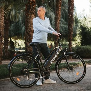 "Viena Urbanbiker Trekking E-Bike 26""  840Wh Akku, Unisex E-Trekkingbike 250W Motor, 160km Reichweite   Farbe:gelb"