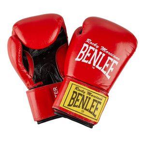 BENLEE Rocky Marciano Boxhandschuhe Uni – Erwachsene Rot-Schwarz, Größe:16 oz