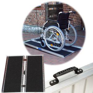 TrutzHolm® Rollstuhlrampe 122 cm 270 kg klappbar Alu Friktionsbeschichtung