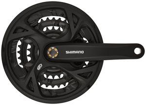 Shimano FC-M371 Kurbelgarnitur Trekking Vierkant 9-fach 48-36-26 Zähne schwarz Kurbelarmlänge 175mm