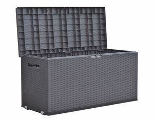 Auflagenbox Rattan Optik Gartenbox Gartentruhe Auflagen Kissen Garten Box Truhe